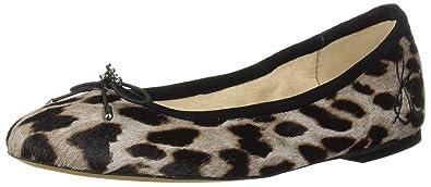 c0f1a8a5361 Sam Edelman Women s Felicia Ballet Flat Grey Multi Leopard 5 M US
