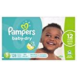 Amazon Price History for:Pampers Baby Dry Diapers, Size 5, 128 Count