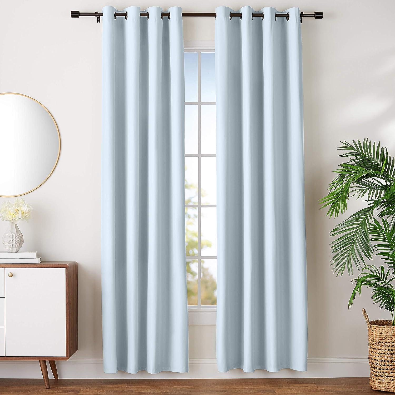 AmazonBasics Room Darkening Blackout Window Curtains with Grommets- 52