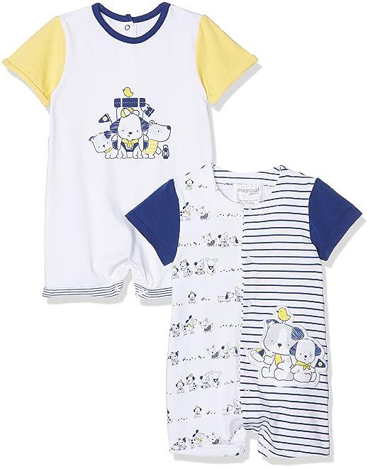 Mayoral 1728, Conjuntos de Pijama para Bebés, Amarillo (Limon 72), Recién