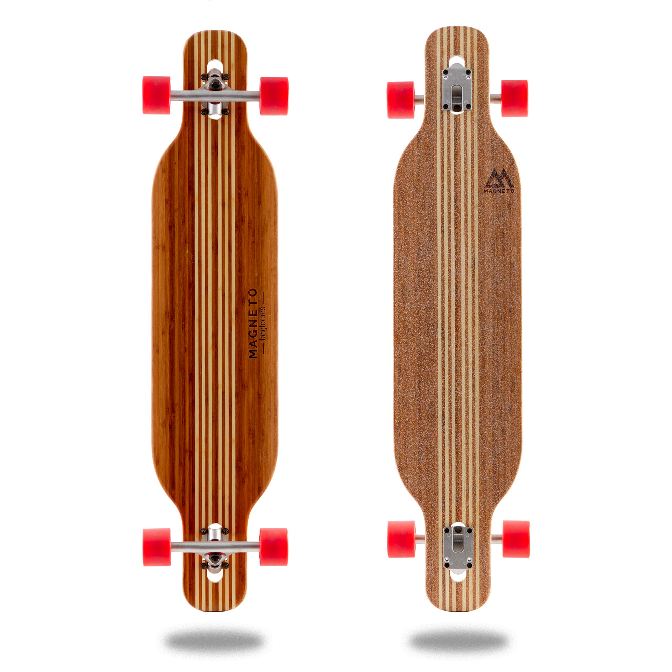 Hana Longboard Collection | 42 inch Longboard Skateboards | Bamboo with Hard Maple Core | Cruising, Carving, Dancing, Freestyle (Twin)