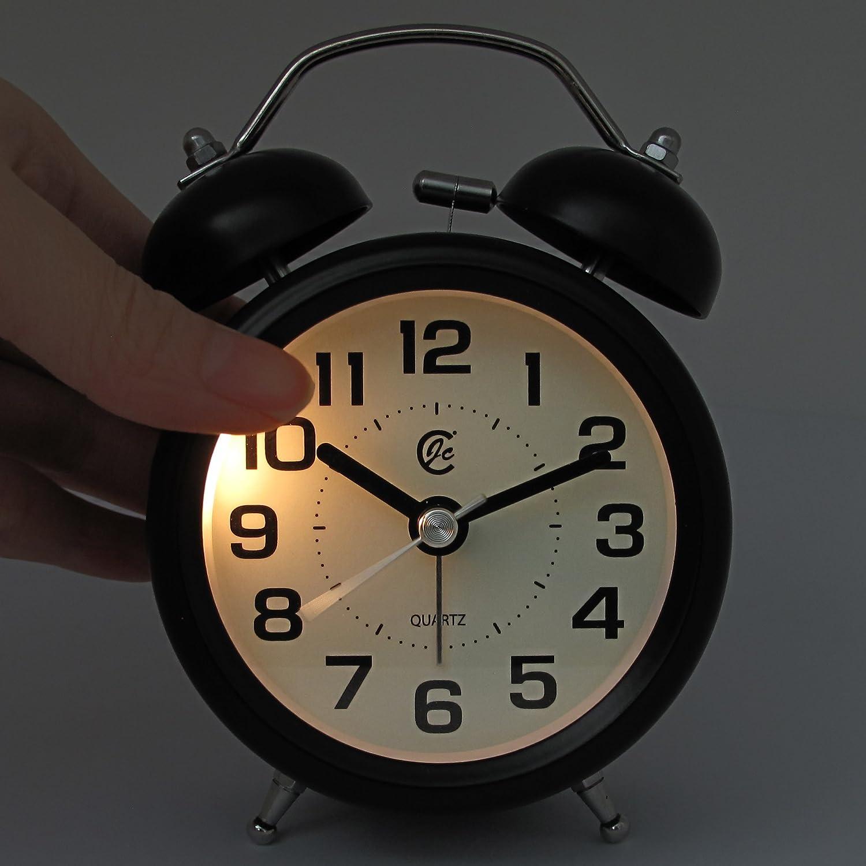 Amazon.com: Reloj despertador JCC, para mesita de noche, con ...