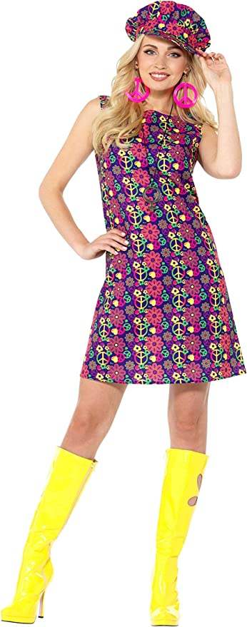 60s Costumes: Hippie, Go Go Dancer, Flower Child, Mod Style Smiffys 1960s Psychedelic CND Costume £16.90 AT vintagedancer.com