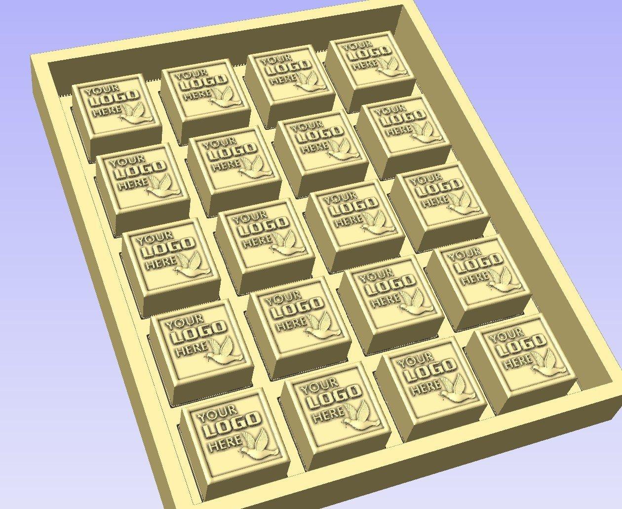 Molde personalizado para chocolate con logotipo ...