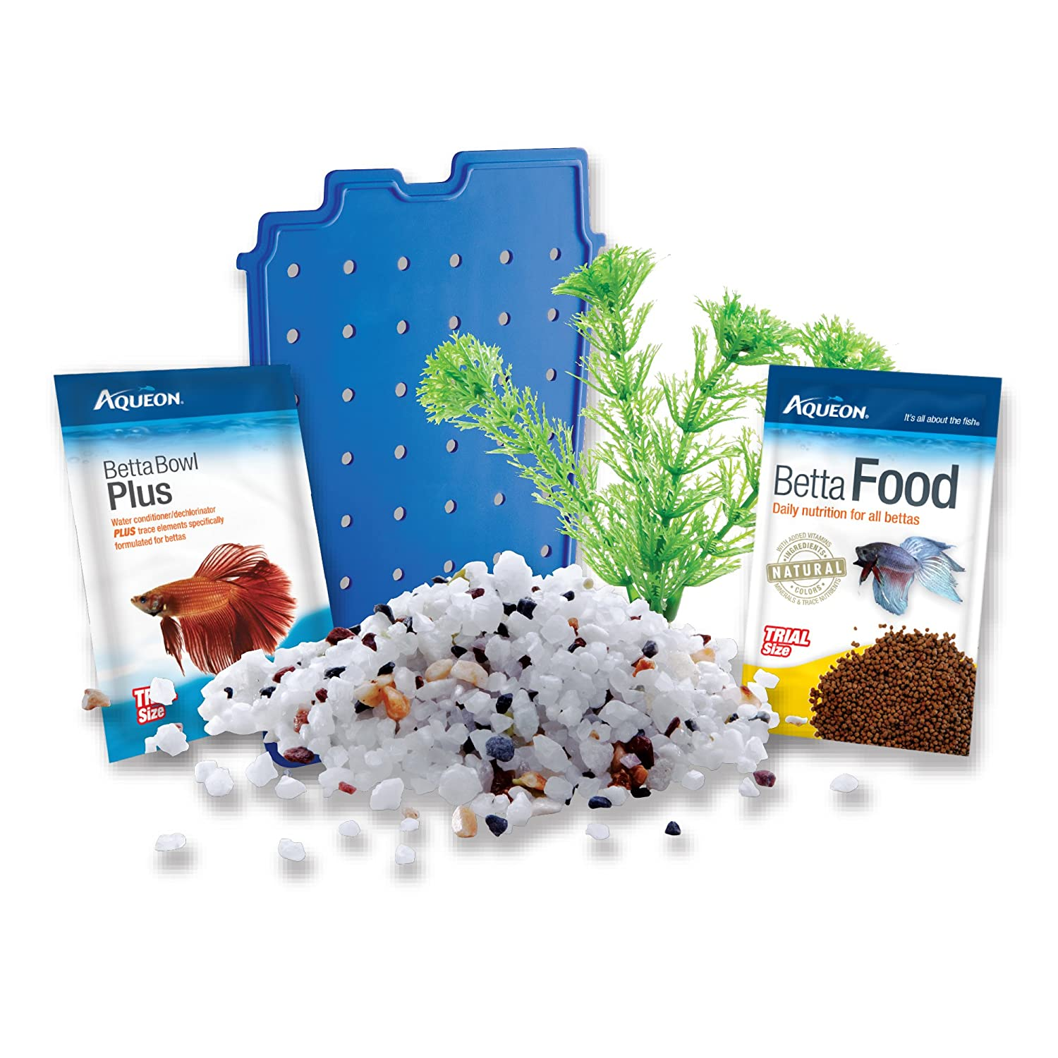 Aqueon Betta Bowl Acuario Kit en Negro: Amazon.es: Productos para mascotas