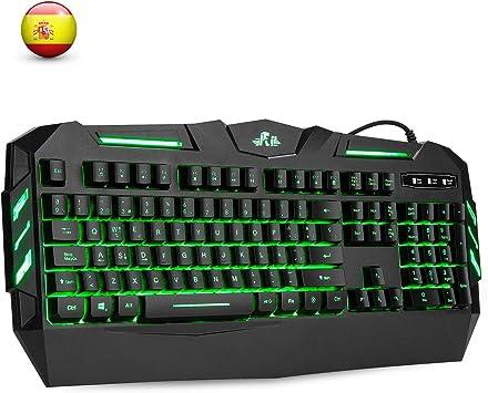 Rii RK900 Teclado Multimedia Gaming con sensibilidad mecánica, 7 ...