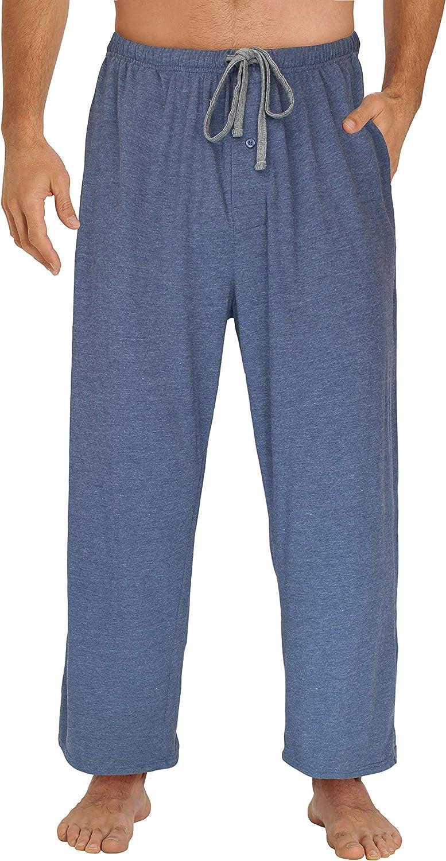 EVERDREAM Sleepwear Mens Jersey Knit Pajama Pants, Long Pj Bottoms