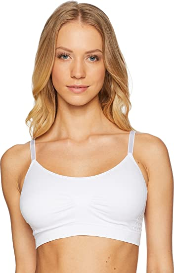 cea46320629 Coobie Women s Full Size Scoop Neck Bralette w Lace Back White One Size at Amazon  Women s Clothing store