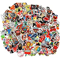 Cool Sticker 100pcs Random Music Film Vinyl Skateboard Guitar Travel Case Sticker Door Laptop Luggage Car Bike Bicycle Stickers (100pcs)