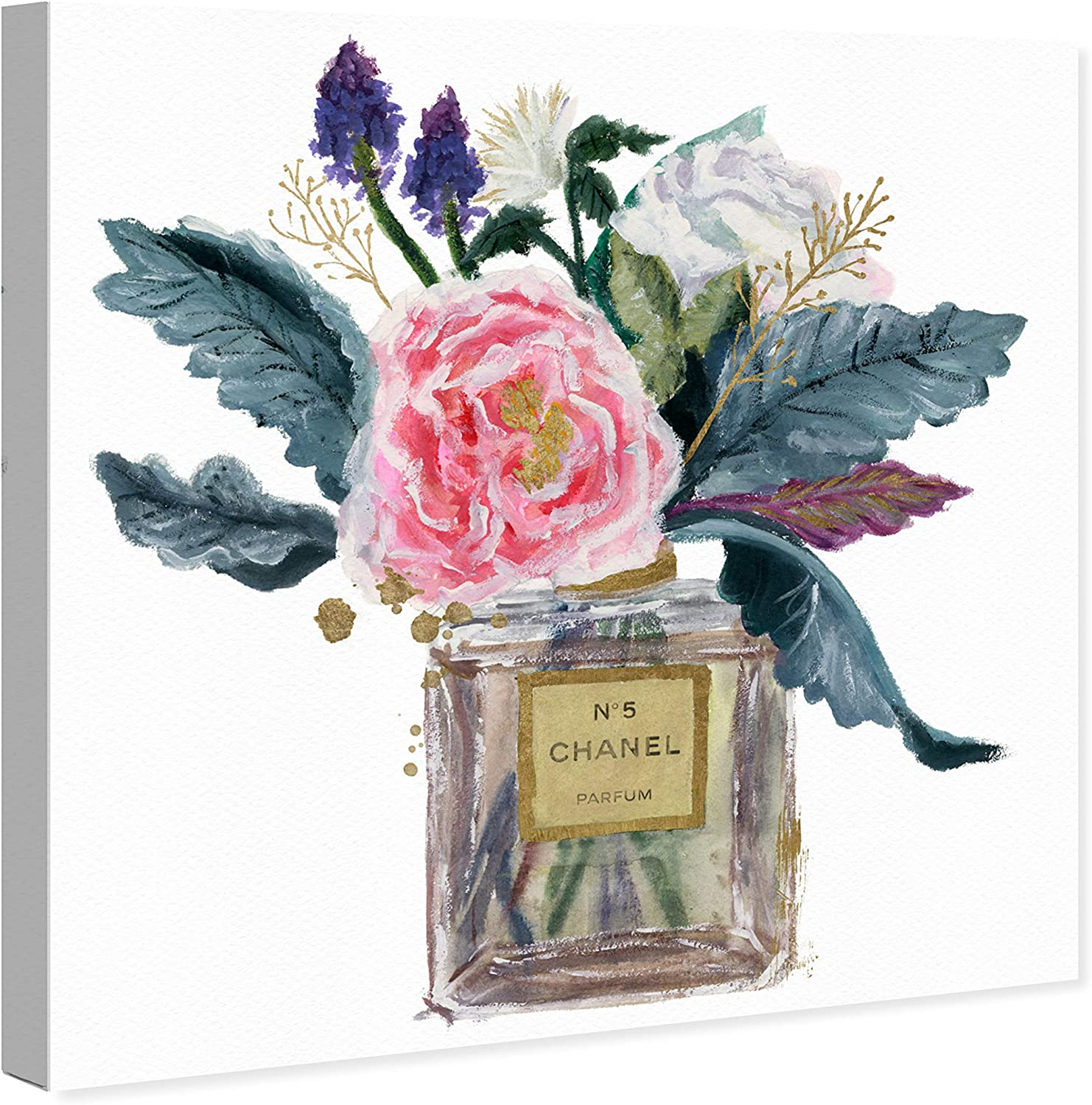 Wynwood Studio Fashion And Glam Wall Art Canvas Prints Eau Of French Peony Home Décor 12 X 12 Gold Green Home Kitchen