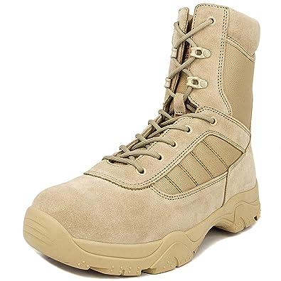 c765ab292 Milforce Men's 8 inch Military Tactical Boots Combat Desert Duty Work Shoes  Side Zipper (7