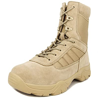 7ddf6e2eb08d Milforce Men s 8 Inch Military Tactical Boots Combat Desert Duty Work Shoes  with Side Zipper
