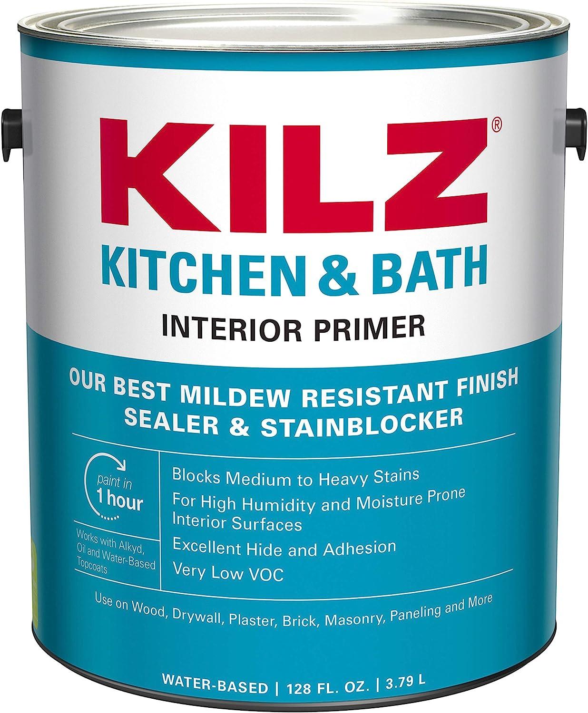 KILZ L204511 Kitchen & Bath Interior Mildew-Resistant Primer