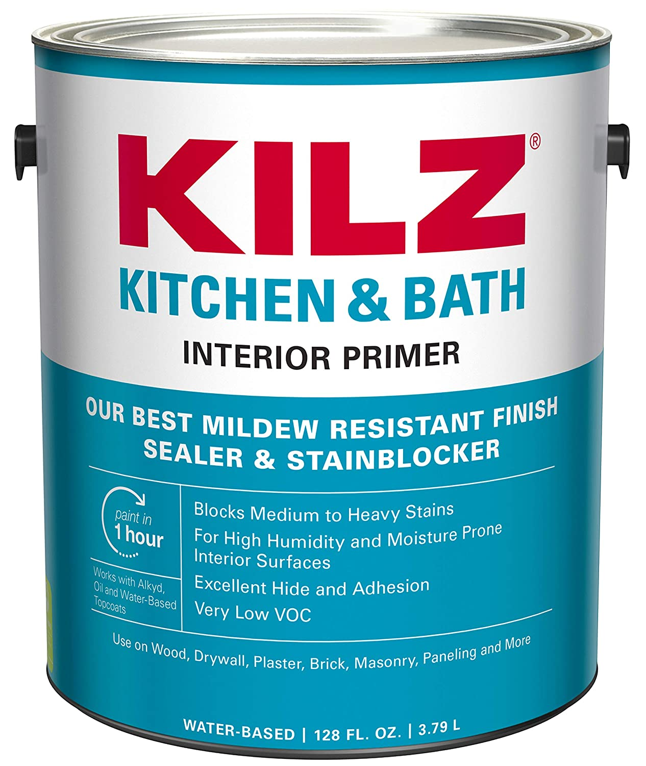Superb Kilz L204511 Kitchen Bath Interior Latex Primer Sealer Stainblocker With Mildew Resistant Finish White 1 Gallon 1 Gallon 4 L Interior Design Ideas Inesswwsoteloinfo