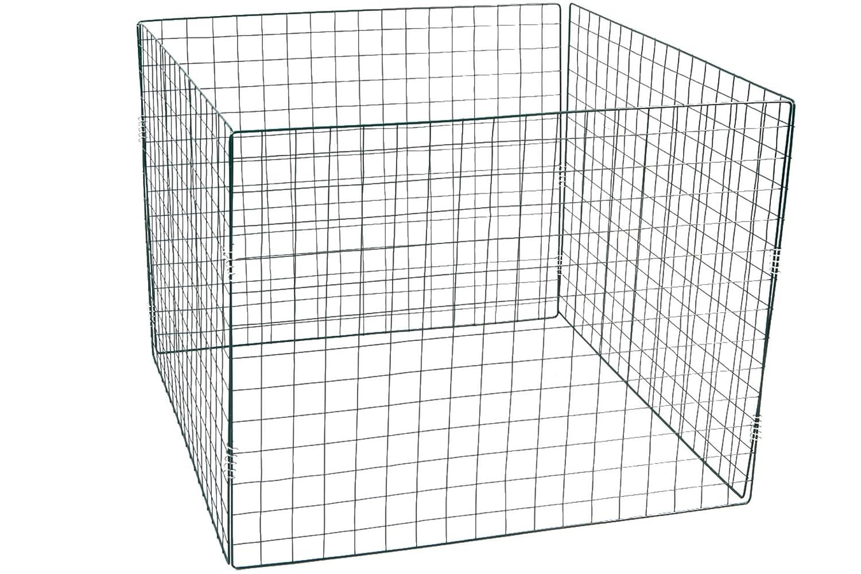 Compost Bins Steel Frame 90x 90x 70cm Green 4x 6cm Mesh Linder Exclusiv