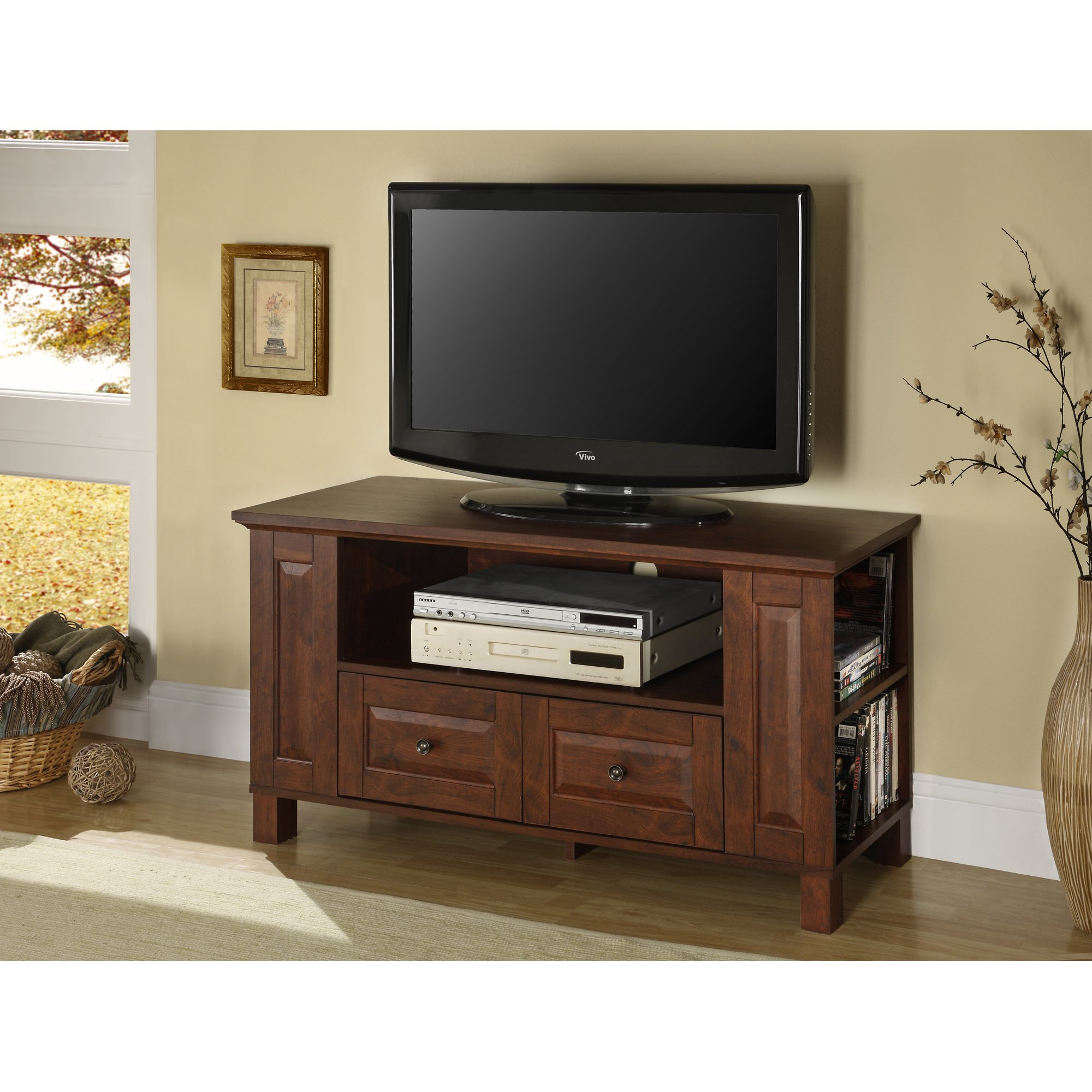 Walker Edison Furniture Company Traditional Wood TV Stand with Storage Drawers for TV's up to 48'' Living Room by Walker Edison Furniture Company