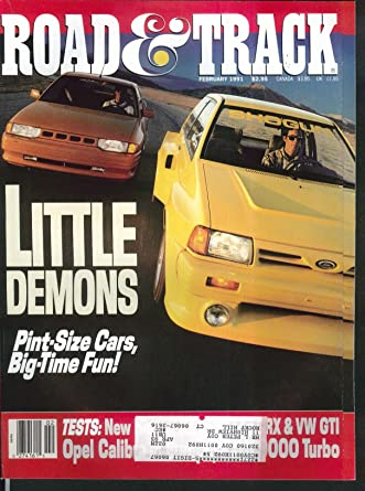ROAD & TRACK Nissan NX 2000 Honda CRX Si Volkswagen GTI road tests Opel + 2