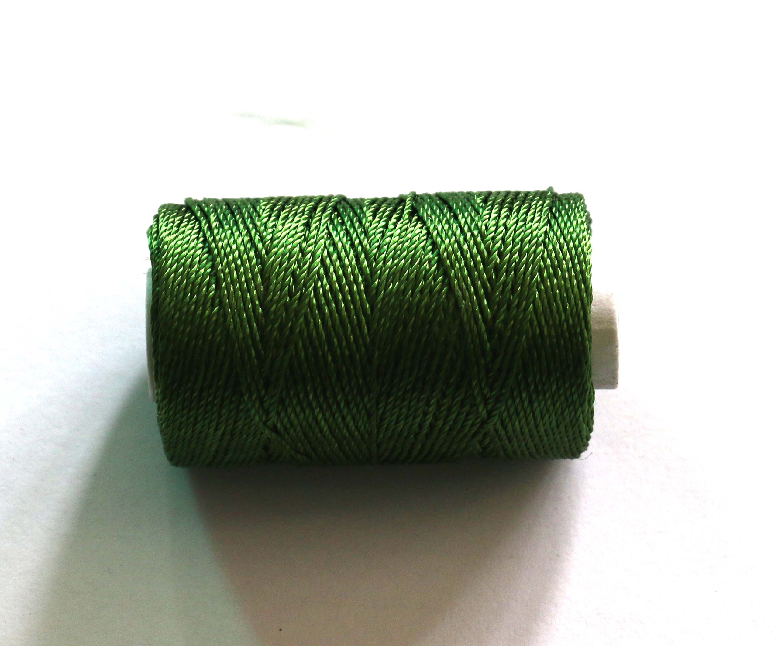 Velvet Thread for Flute, flute tying thread, Green colour, resham dori, D-203