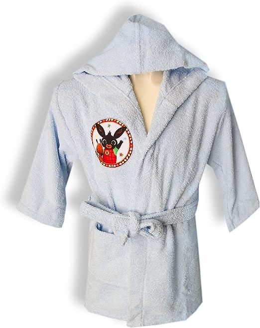 Albornoz con capucha original Bing Bunny años 2 3 4 5 100% rizo ...