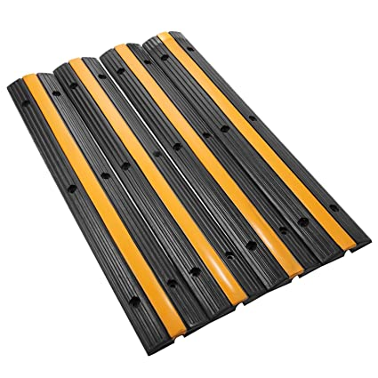 bestequip extreme rubber cable protectors 4 pack cable protector ramp capacity 18000lbs rubber speed bump rubber - Rubber Speed Bumps