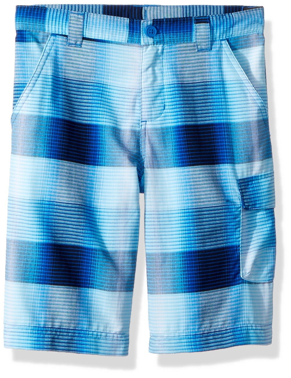 Columbia Boys Silver Ridge Printed Shorts, Super Blue Plaid, Small