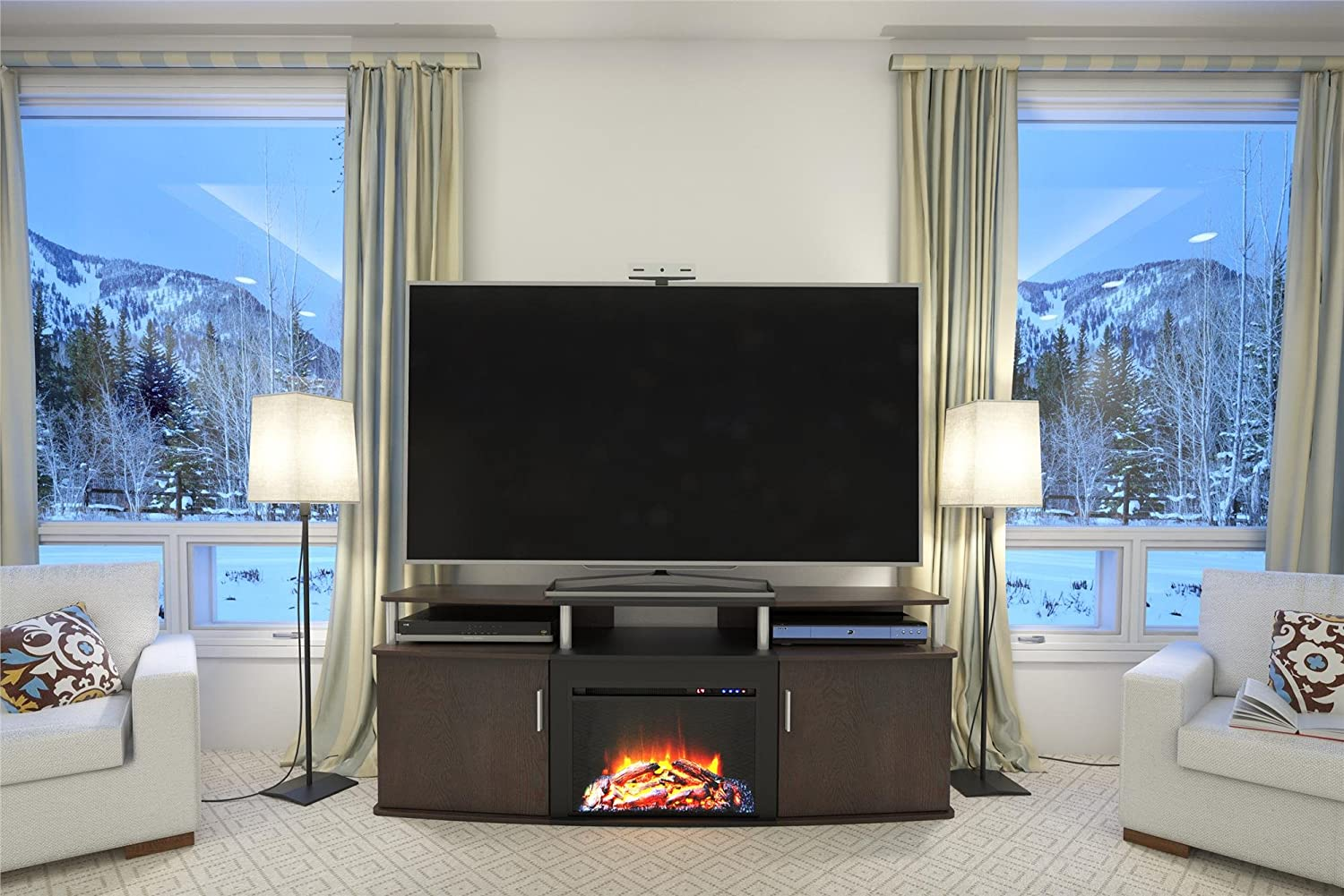 Large Electric Fireplace Entertainment Center Good Better Best March 2018