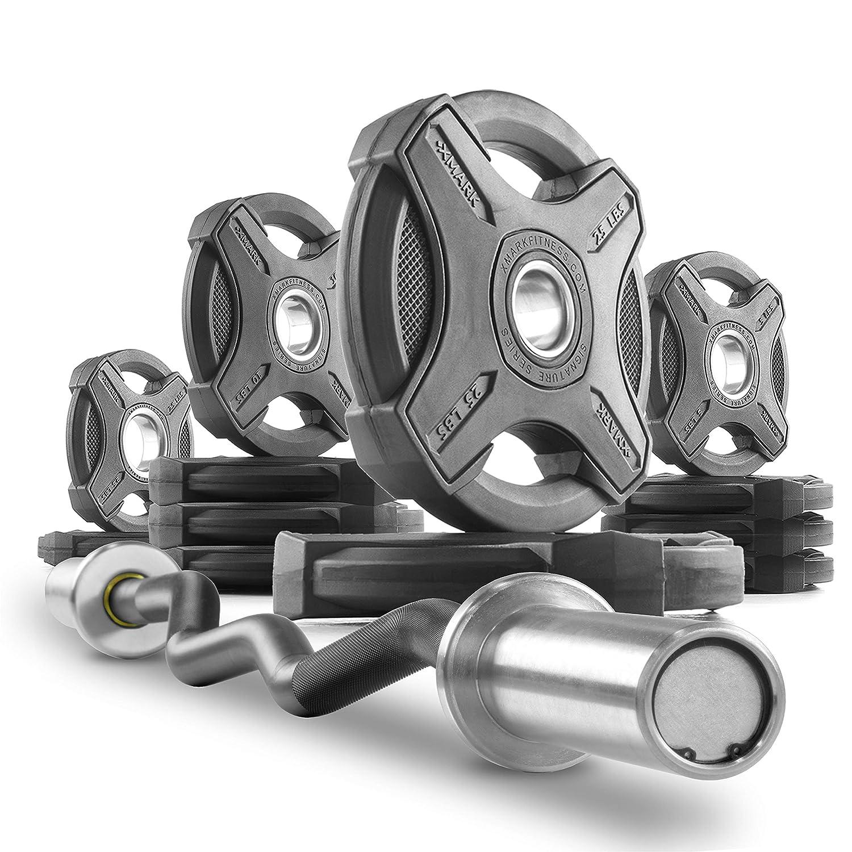 XMark商業28 mmグリップハードクロームオリンピックEZカールバーwith Mediumローレット、スナップリングロックSytem、真鍮ブッシュ、400 lb。WGT。容量(シャフトAvailable inクロムまたはブラックマンガンPhosphate ) B079VYCGP2 I) CURL BAR WITH SIGNATURE 115 LB. SET