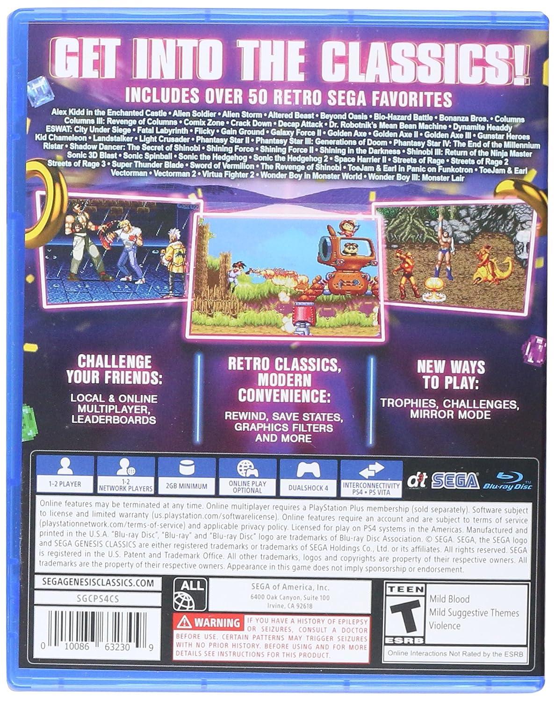 SEGA Genesis Classics for PlayStation 4 [USA]: Amazon.es ...