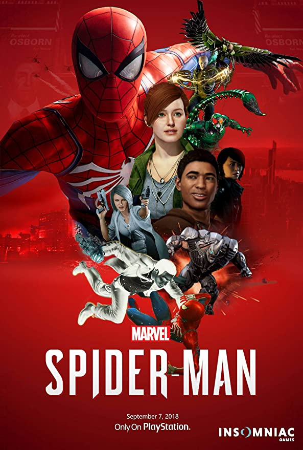 Spider-Man PS4 New Custom Poster Print Art Wall Decor