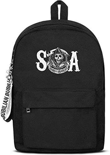 Bag Classic Packable Canvas Rucksack Travel Hiking Sons-of-Anarchy-grim-Reaper-skull- for Men Women and Kids