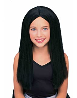 Forum Long Child Wig, Black