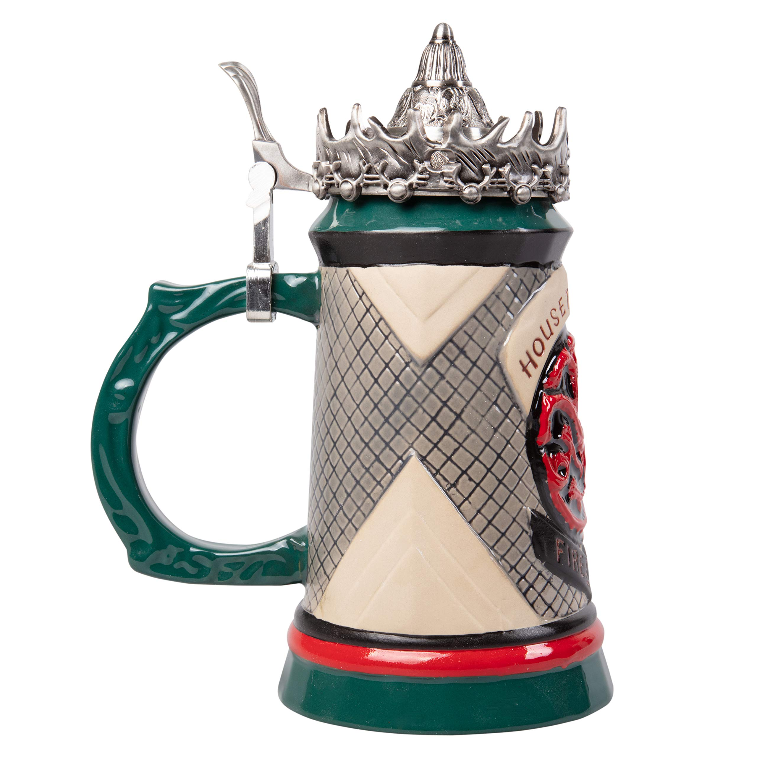 Game of Thrones House Targaryen Stein - 22 Oz Ceramic Base with Pewter Baratheon Crown Top by Game of Thrones (Image #5)
