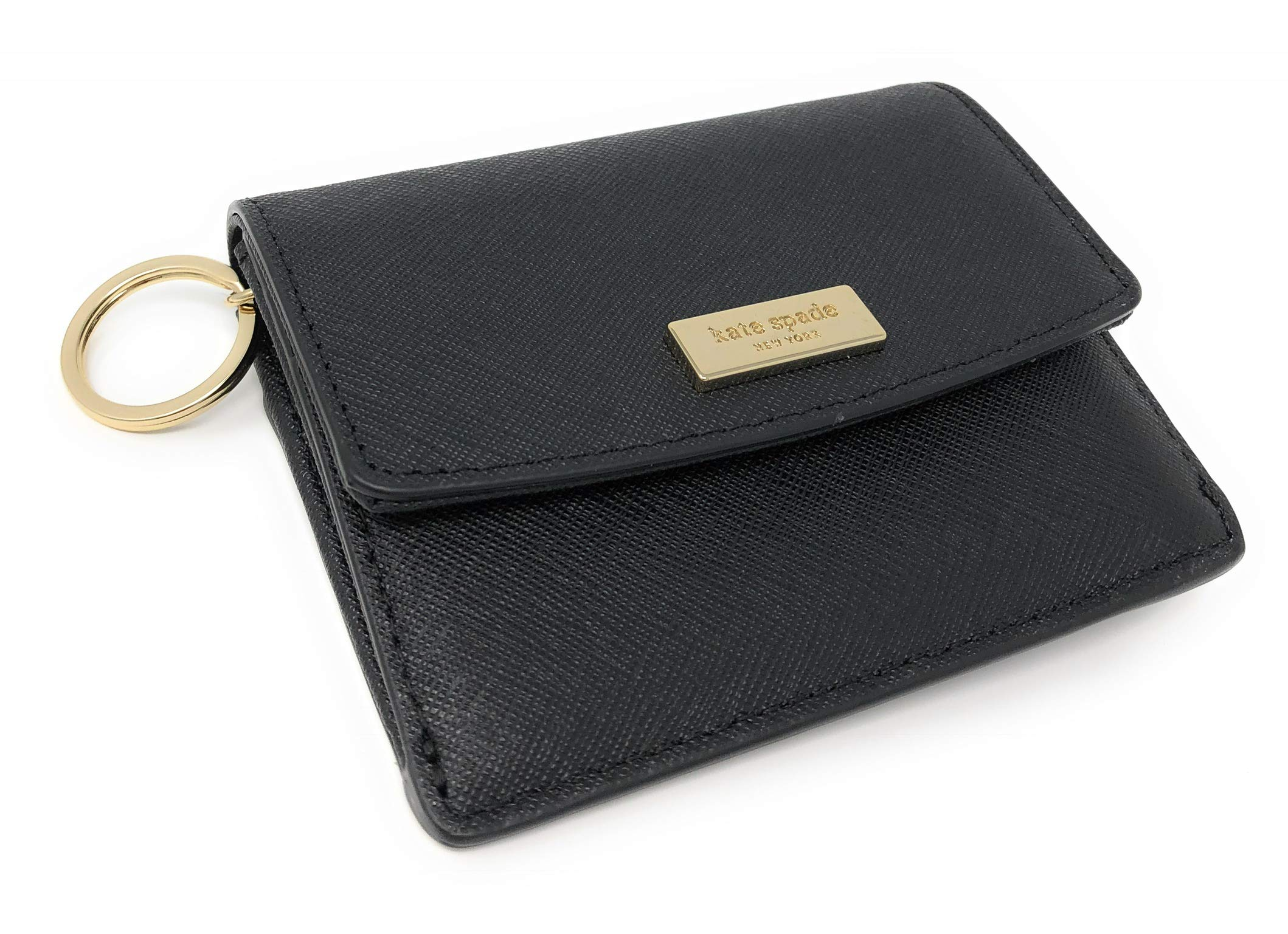 Kate Spade New York Laurel Way Petty Wallet Id Key Ring Holder Black