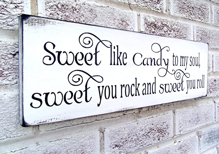 Swell Amazon Com Wedding Candy Bar Signs Candy Buffet Sweet Interior Design Ideas Tzicisoteloinfo