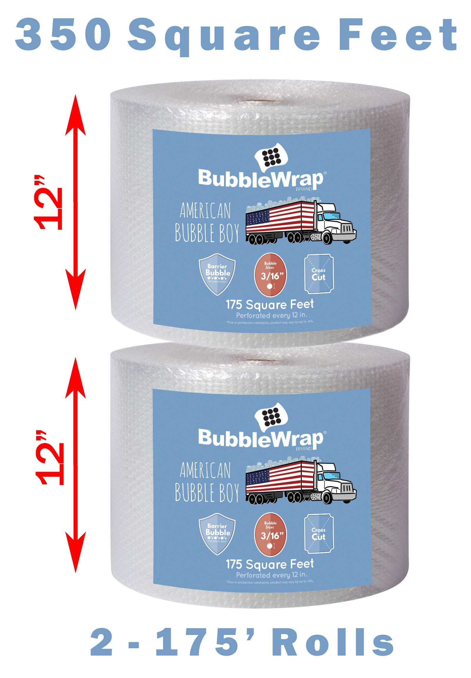 Bubble Wrap 350'BUBBLE BUNDLE for Packing, Shipping, Moving by American Bubble Boy by American Bubble boy