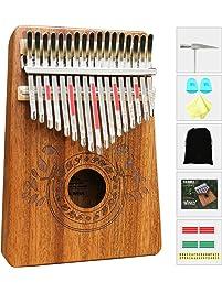 UNOKKI Kalimba 17 Keys Thumb Piano with Study Instruction and Tune Hammer, Portable Mbira Sanza African Wood Finger Piano...