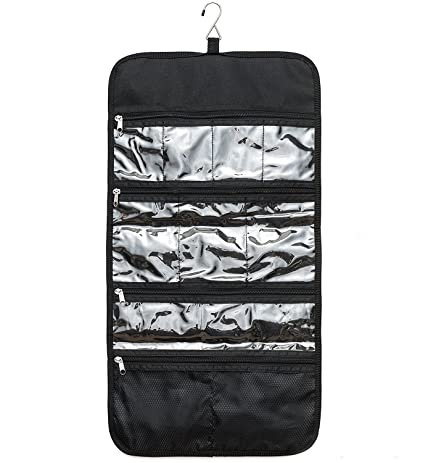 hanging toiletry bag for women odessa ideal for storing cosmetics makeup and jewelry in
