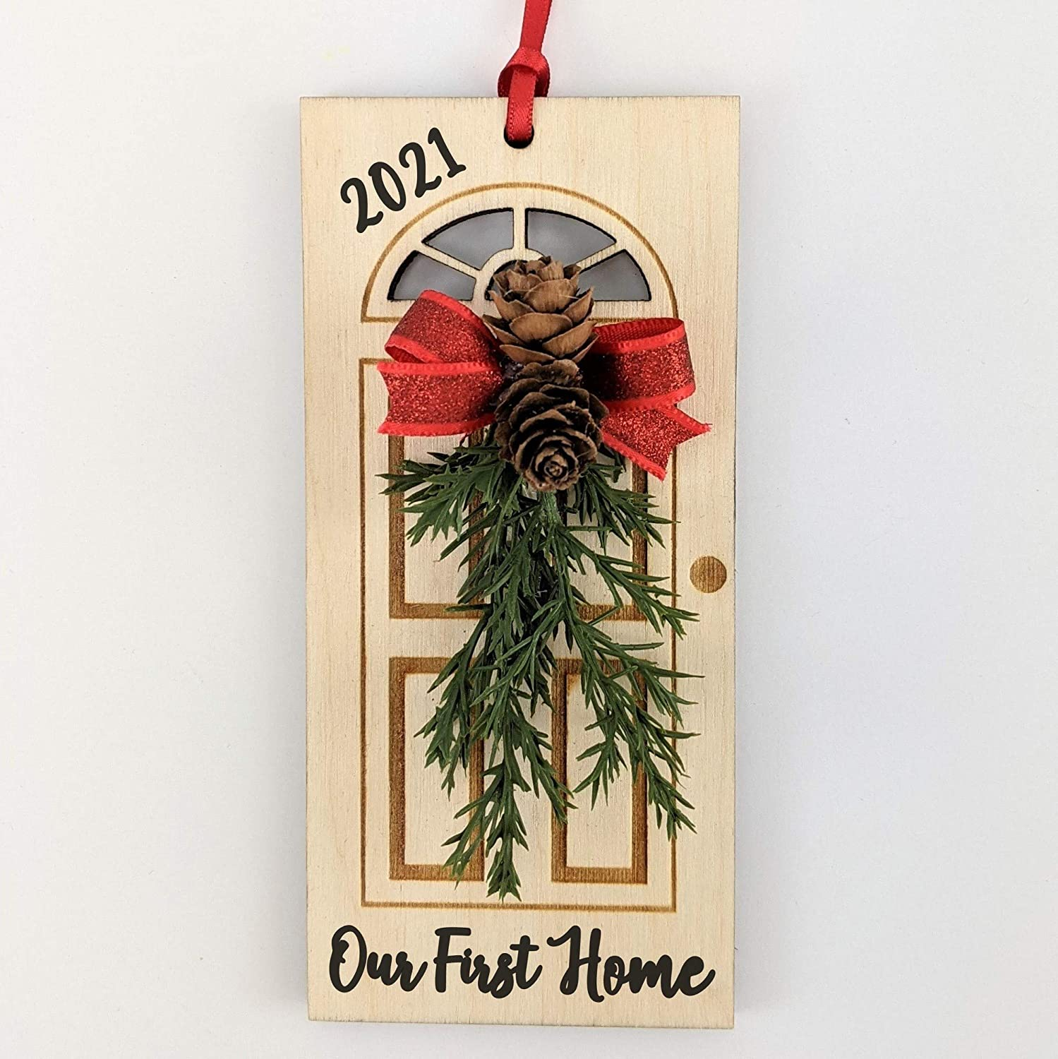 Our First Home Ornament Christmas 2021 - Newlywed Gift - Present for First Time Home Buyer - Engagement