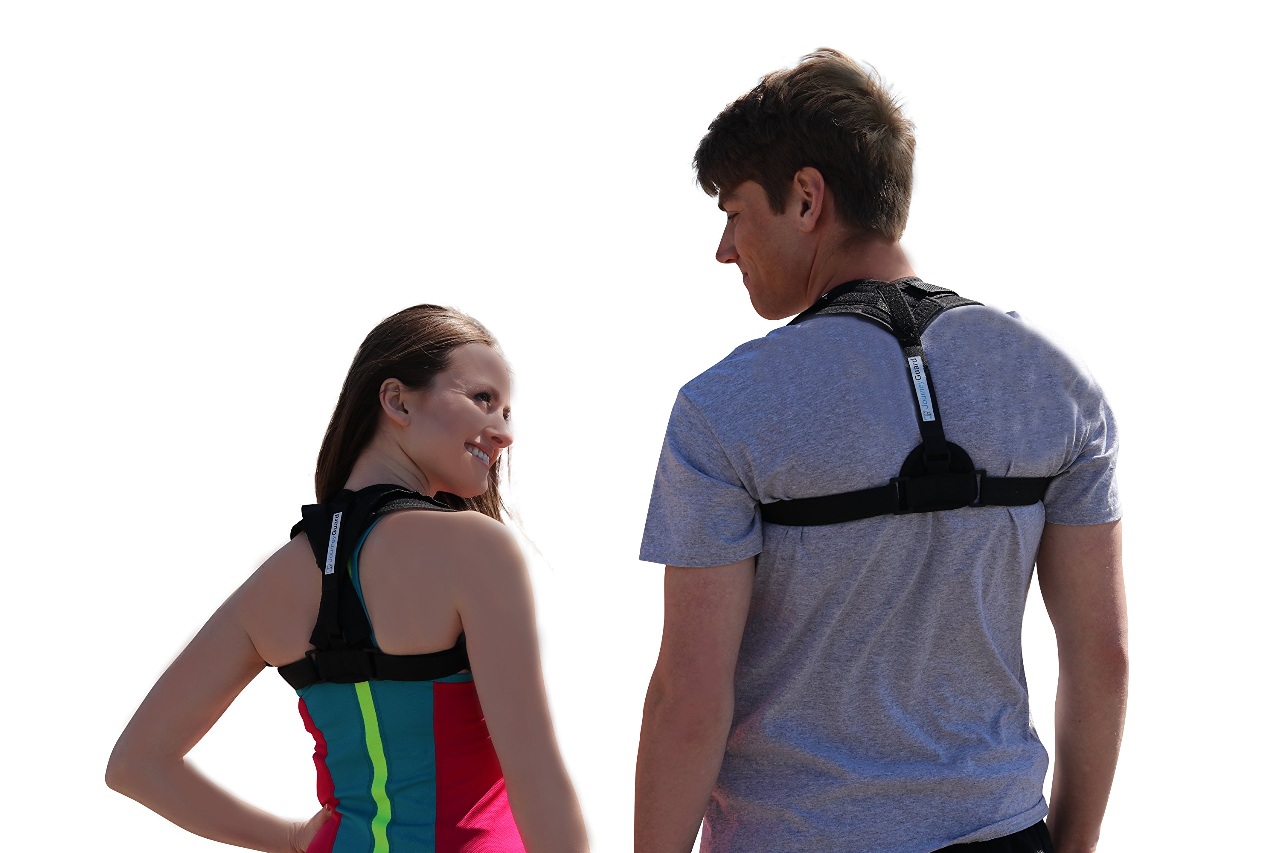 Journey Guard - Back Posture Corrector - Shoulder Brace for Men and Women - Neck and Upper Back Support, Posture Correction Under Clothes - Helps to Correct Posture, Slouching, and Back Pain