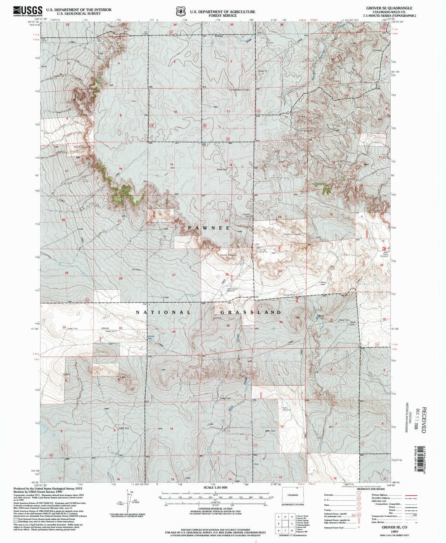 Se Colorado Map.Amazon Com Yellowmaps Grover Se Co Topo Map 1 24000 Scale 7 5 X