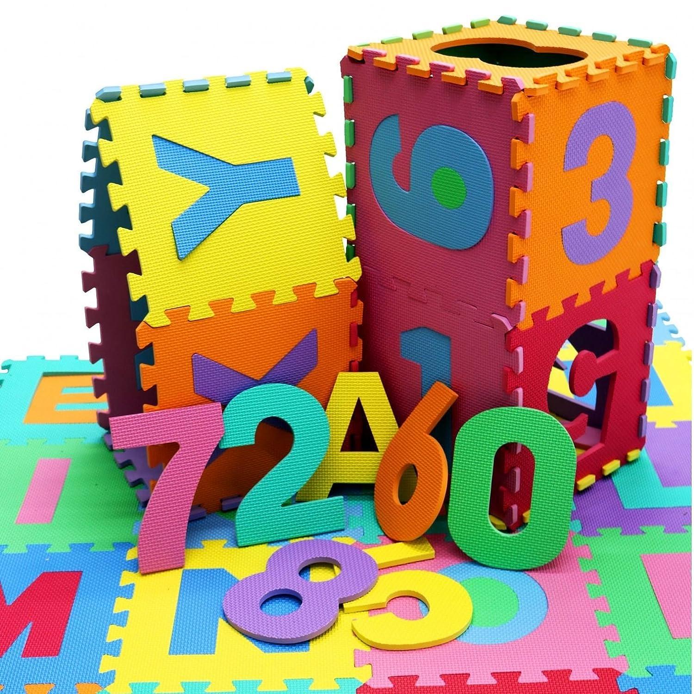 Oypla 36pc Interlocking EVA Kids Large Floor Play Mat Alphabet and Numbers 3984A2P