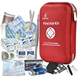First Aid Kit - 163 Piece Waterproof Portable Essential Injuries & Red Cross Medical Emergency Equipment Kits : for Car…