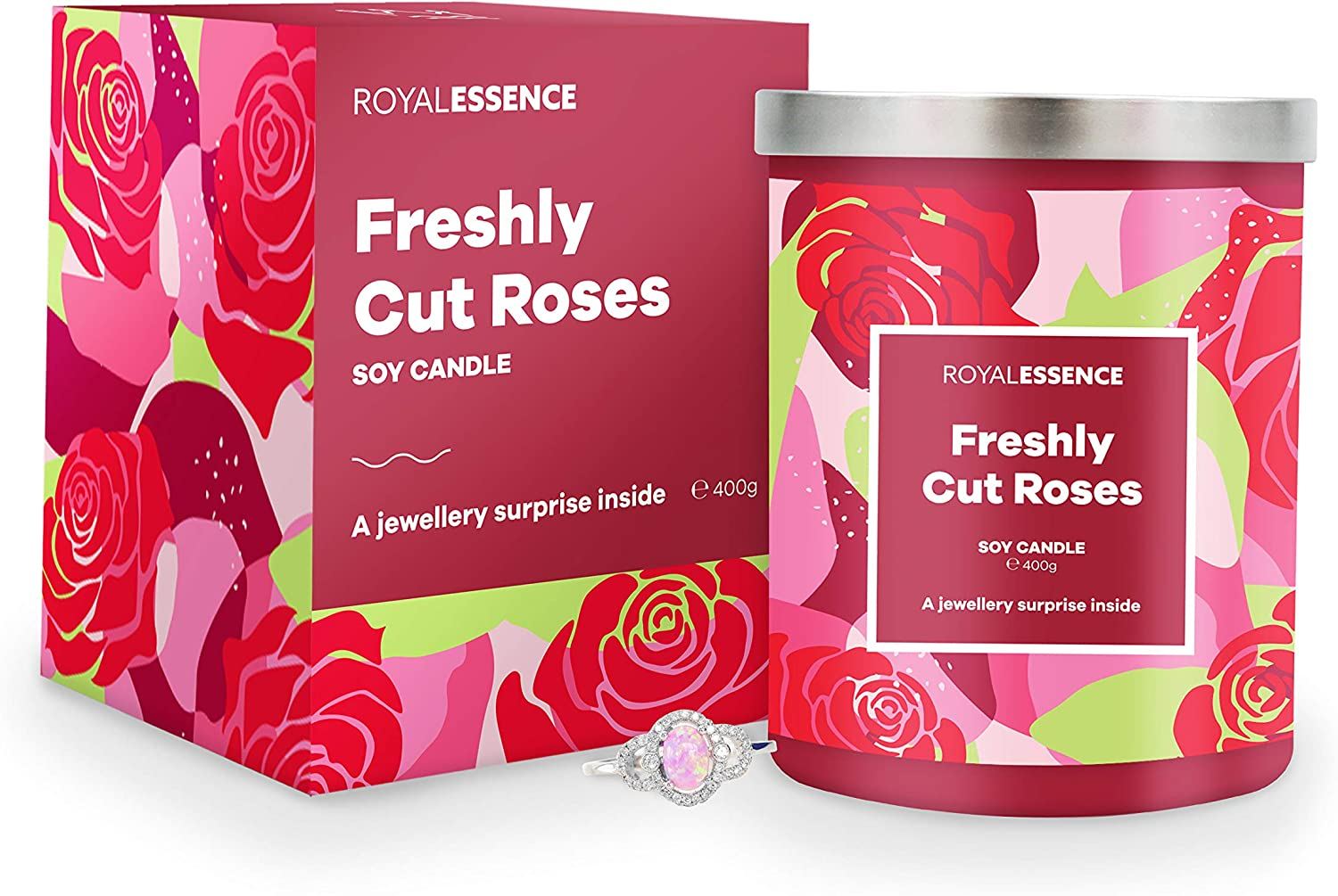 Ring Size 9 Surprise 925 Sterling Silver Jewellery Valued at /£50 to /£3,000 Royal Essence Freshly Cut Roses Jewellery Candle
