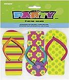 Unique Party - 86303 - Paquet de 12 Bloc-notes Tongs pour Pochettes - Cadeau