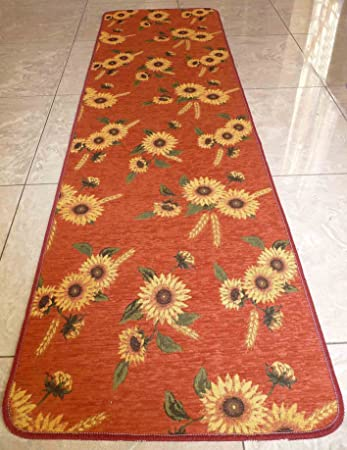 Amazon.de: Sonnenblume Teppich Küche cm 53 x 80 grün