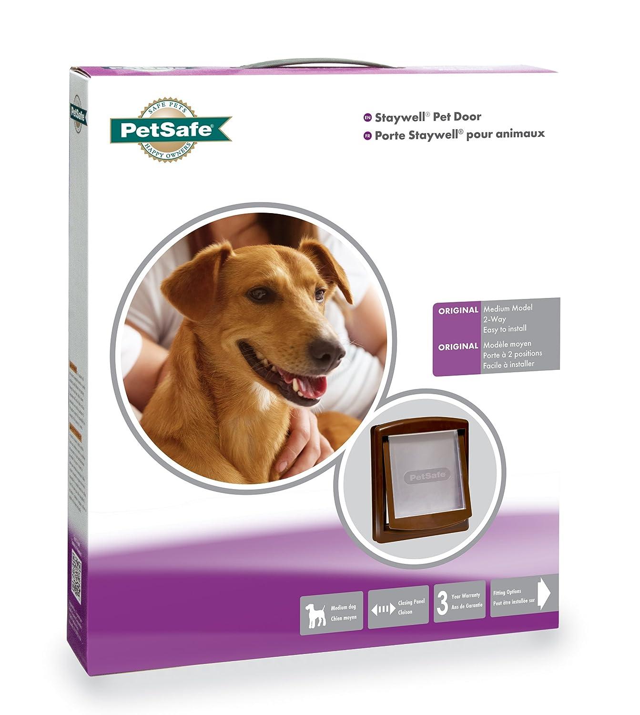 Amazon Petsafe Staywell Original 2 Way Pet Door Medium Brown