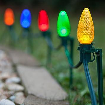 Amazon set of 100 led christmas pathway lights path set of 100 led christmas pathway lights path christmas lights pathway string lights aloadofball Choice Image