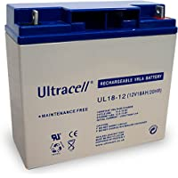 Wentronic Batterie plomb Ultracell 12 V 18 Ah Filetage M5 (Import Allemagne)