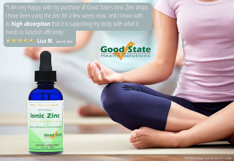Good State Liquid Ionic Zinc Ultra Concentrate Drops, 15 mg, 1.6 Fluid Ounce: Amazon.es: Electrónica
