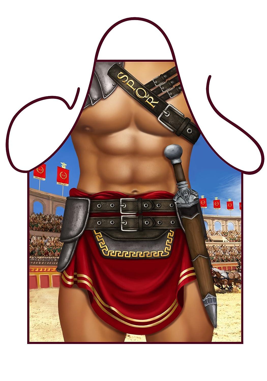 White apron ireland - Iconic Aprons Mens Sexy Novelty Apron Sexy Gladiator Sexy Centurion Kitchen Apron